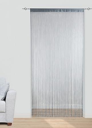 x cortina de hilos visillo estor voile para puerta entrada exterior divisor de ambientes