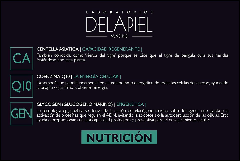 Delapiel Serum Facial - Nutrición 10% Activos Nutritivos - Aftersun -15 Ampollas, Verde, 30 Mililitros