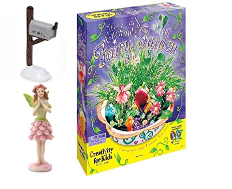 Wonderful Fairy Garden Starter Kit Bundle With 3 Items: Enchanted Fairy Garden Kit  With Plants,