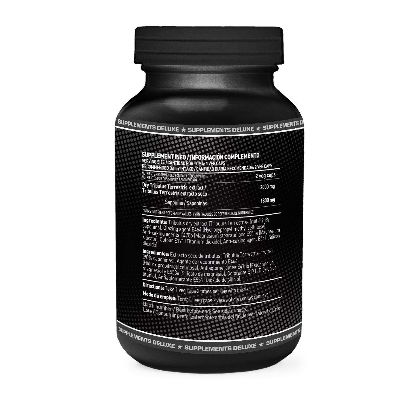 Evolus 90 de HSN Sports- Tribulus Terrestris 90% Saponinas, Aumento de Masa Muscular, Aumento de tus niveles de Testosterona, Aumento de la Líbido - 180 ...