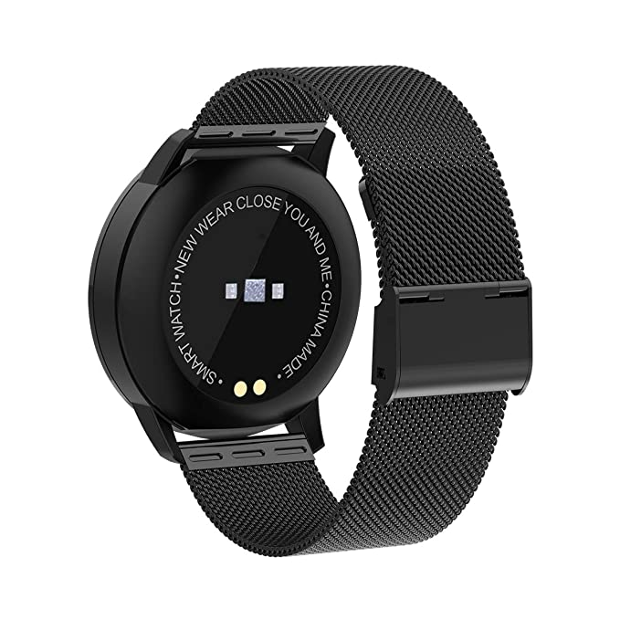 Newwear Q8 Smart Watch IP67 Waterproof Sport Fitness Bracelet Wearable Devices Electronic Smartwatch Message Reminder Pedometer (Black)