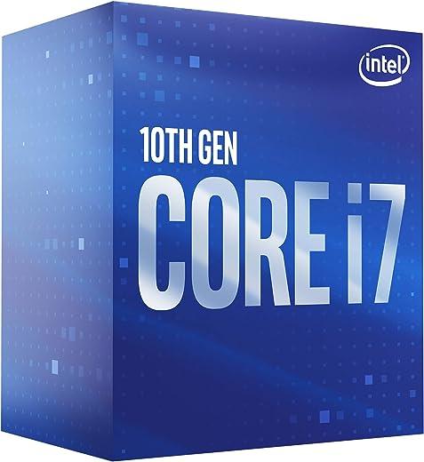 معالج كمبيوتر مكتبي من انتل كور i7-10700 ثماني النواة حتى 4.8 جيجاهيرتز - ال جي ايه 1200 (سلسلة شرائح انتل 400) 65 واط، BX8070110700