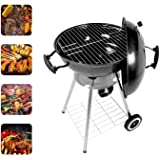 Portable Charcoal Grill, 18.5 Inch Barbecue Grill Smoker Heat Control Round BBQ Kettle 4 Detachable Stainless Steel Legs Garden & Outdoor Cooking