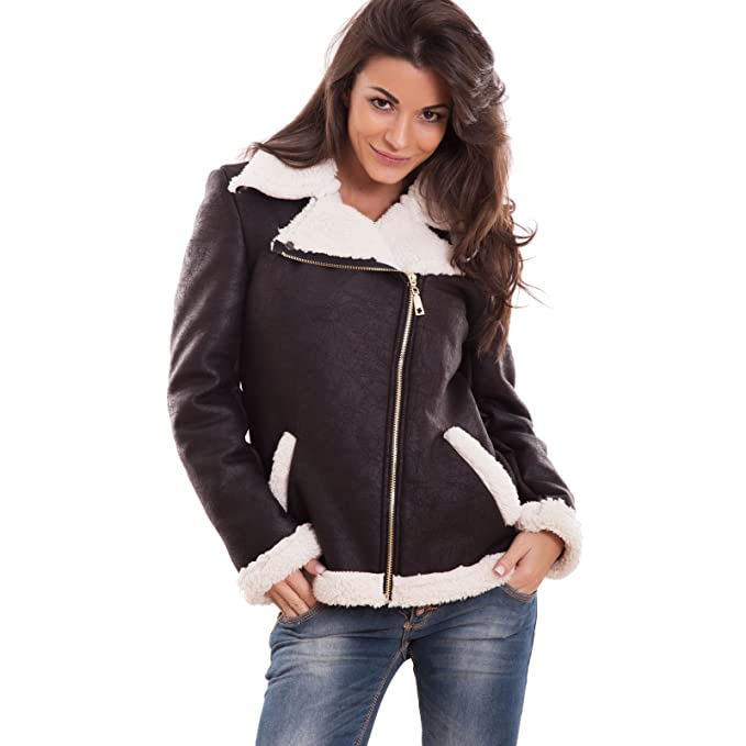 huge selection of f2123 4bd0d Toocool - Giacca Donna Ecopelle Giubbotto Giacchetto ...