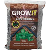 Hydrofarm GROW!T GMC10L Clay Pebbles 10 Liter Bag, 4mm-16mm