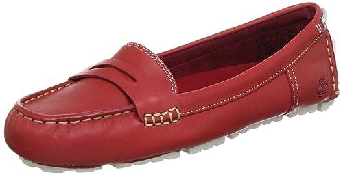 Timberland Neponset FTW_EK Neponset Low Vamp Slip On - Mocasines de cuero mujer, color rojo