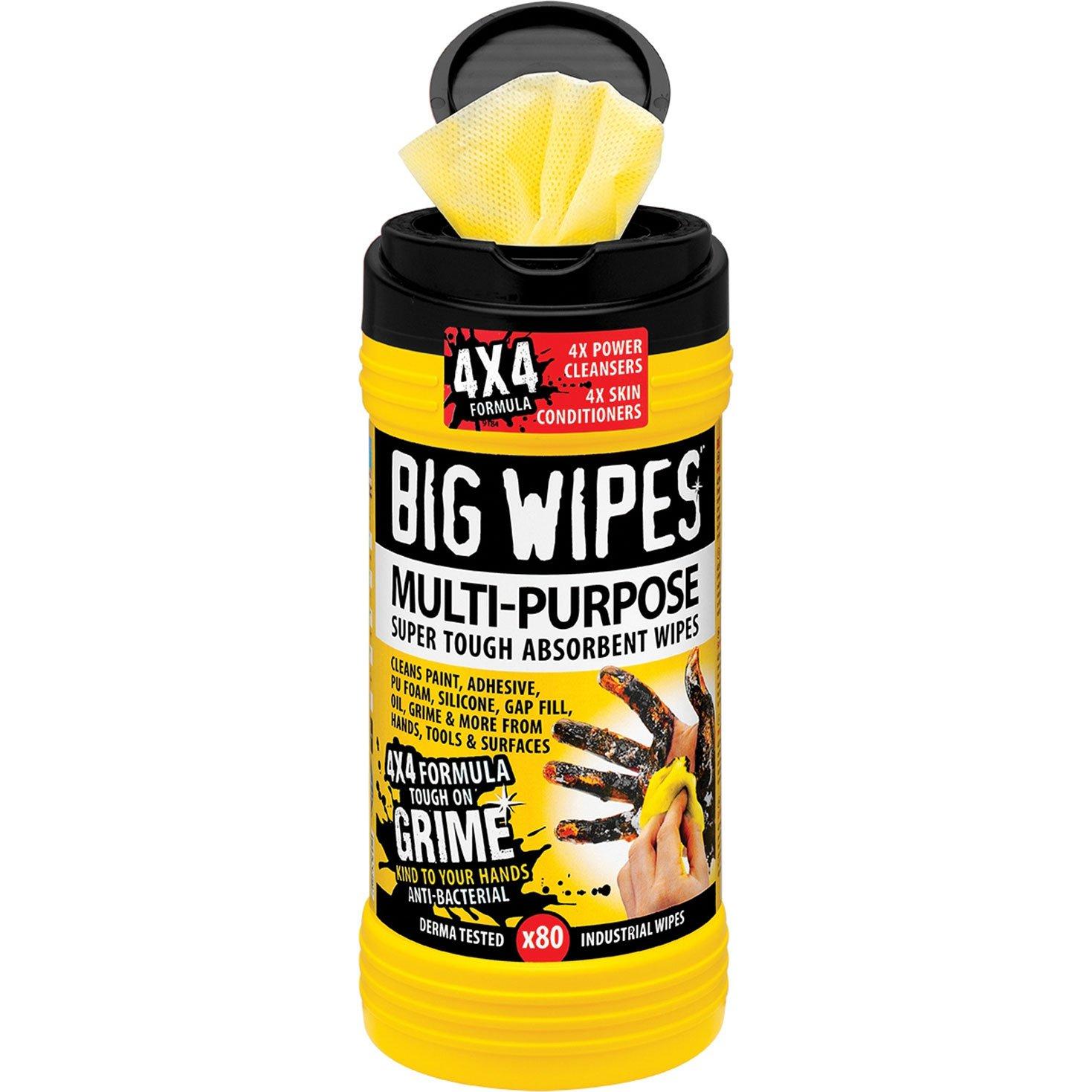 Big Wipes 2410-4 X 4-Pulgadas Multi-Propósito Paños De Limpieza (Paquete De 80): Amazon.es: Industria, empresas y ciencia