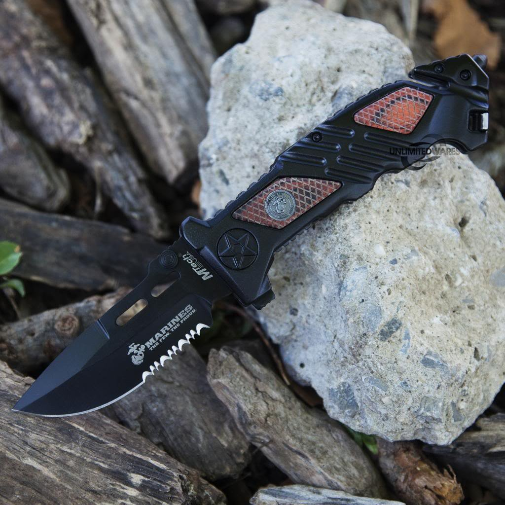 Marines Iron Mike Folding Knife (5.25-Inch Closed) by Marines (Image #7)