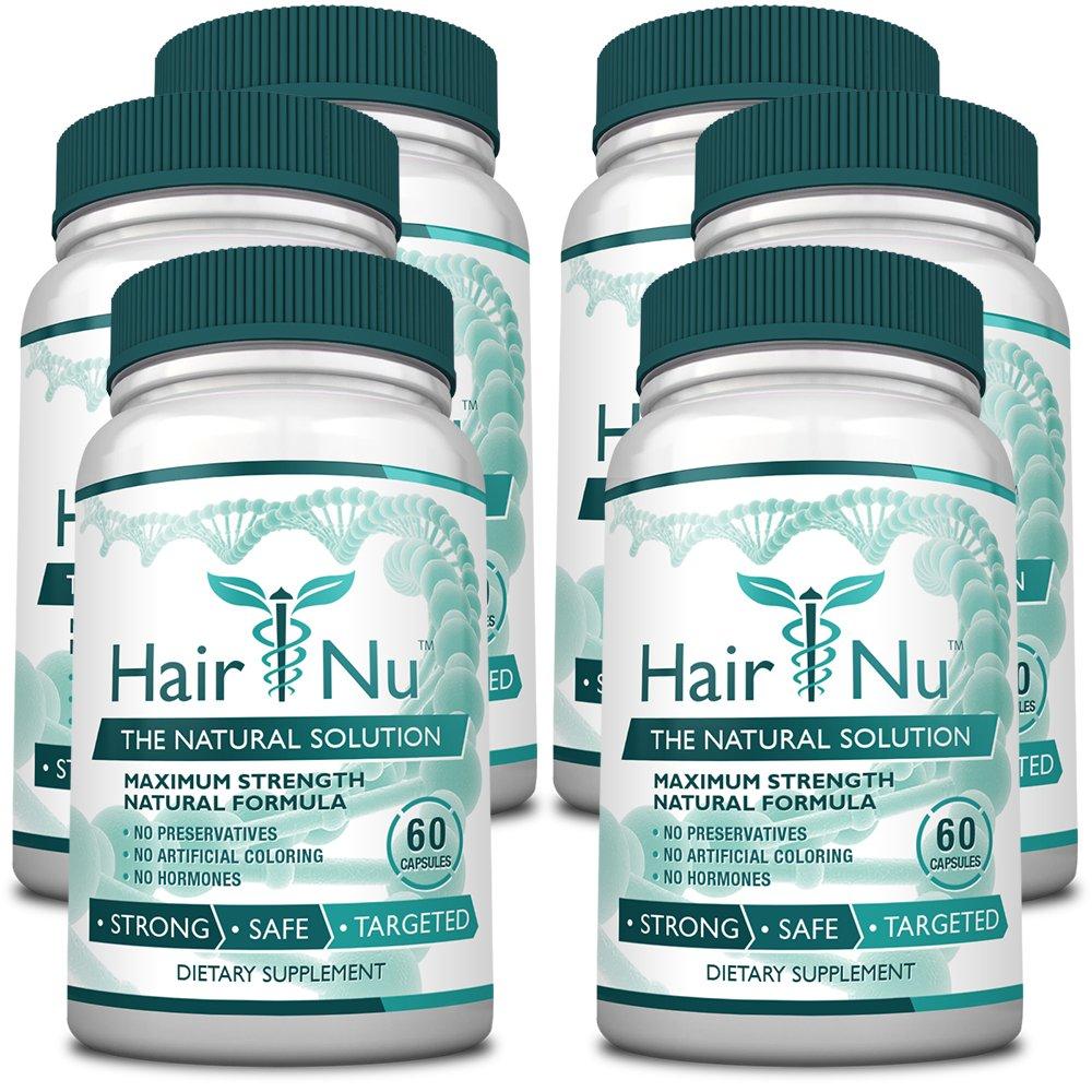 HairNu Dietary Supplement for Hair Growth (6 Bottles)