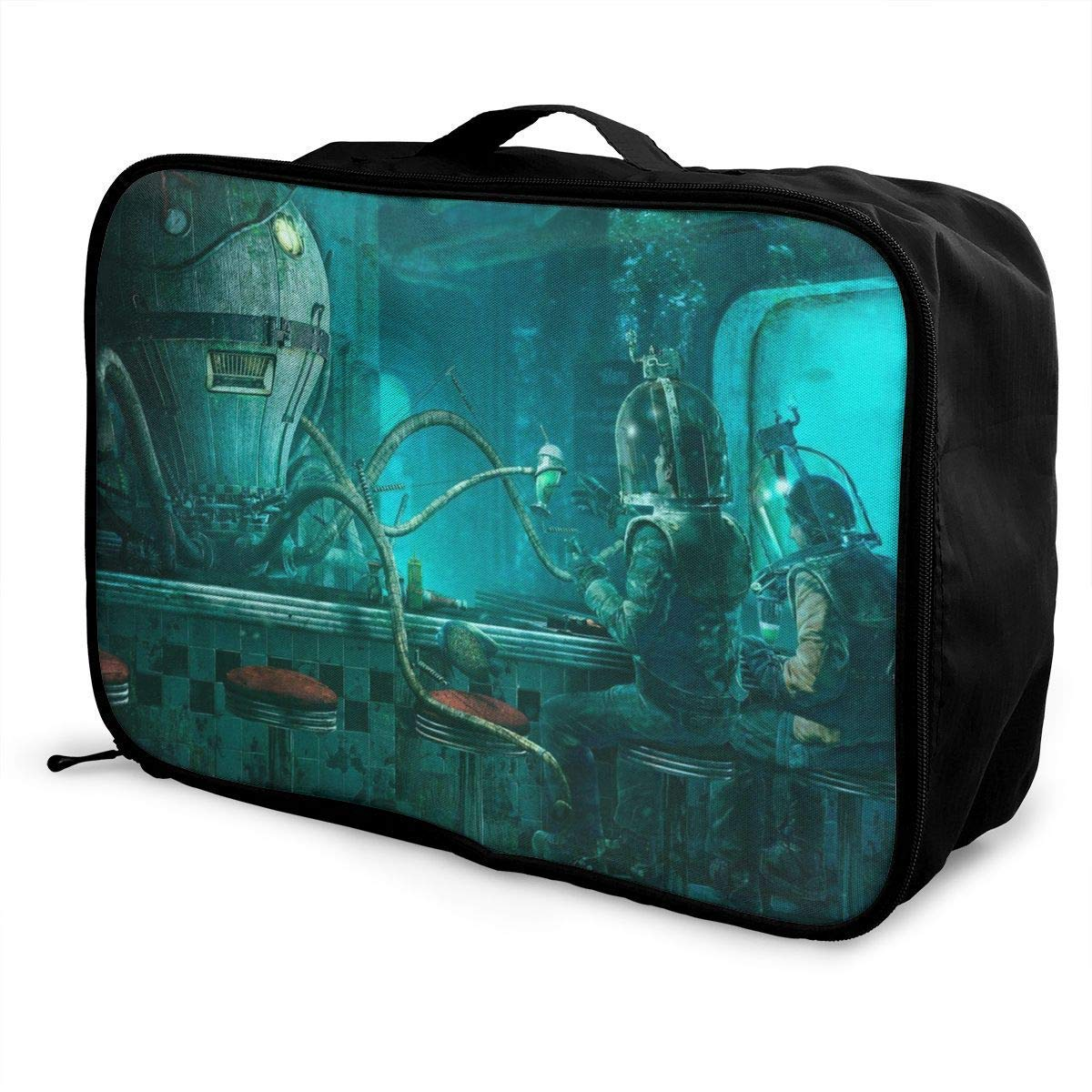 Portable Luggage Duffel Bag Steampunk Octopus Travel Bags Carry-on in Trolley Handle JTRVW Luggage Bags for Travel