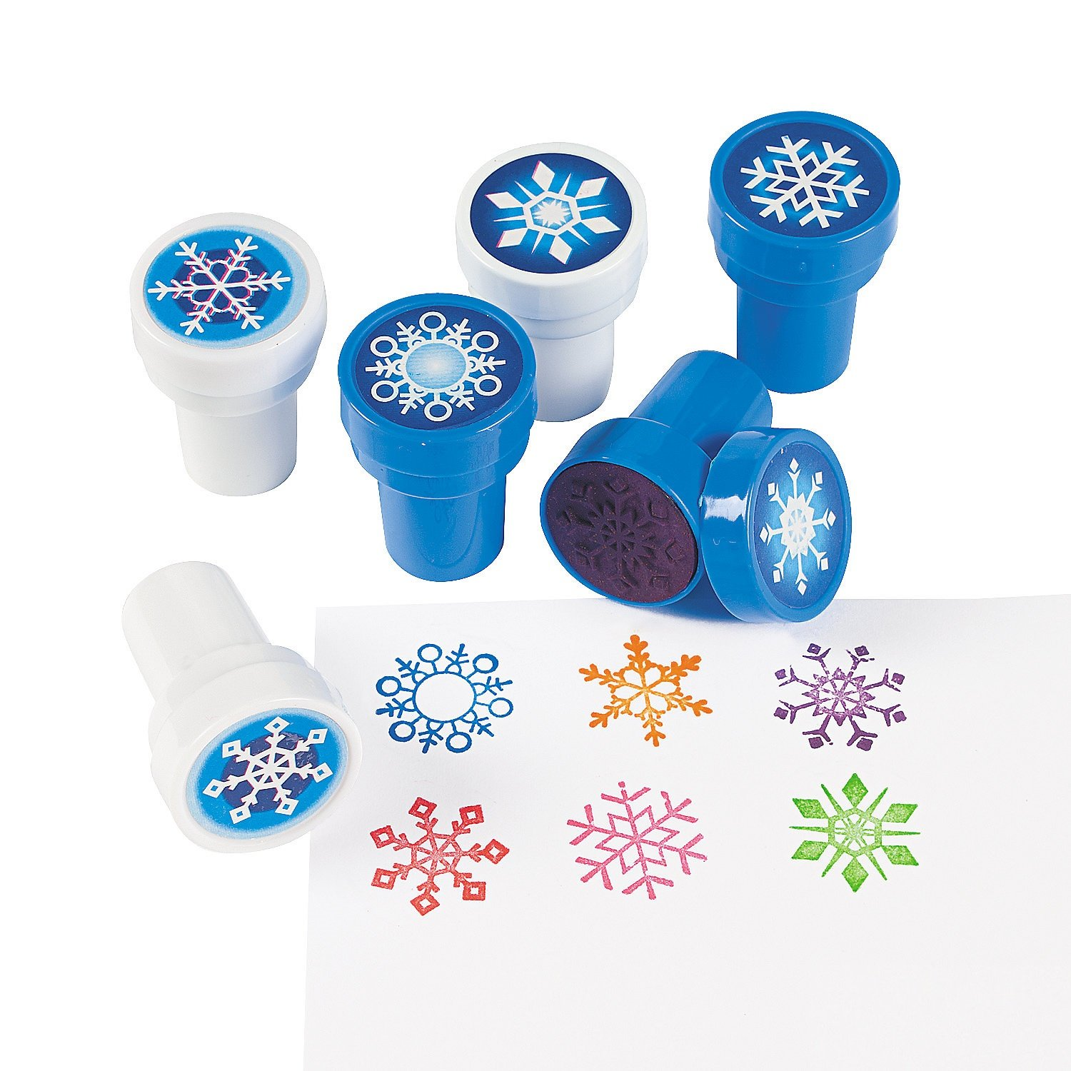 classroom stamps for kids snowflakes winter crafts