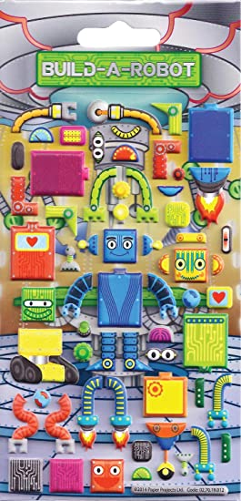 Paper Projects Build-a-Robot Kidscraft Stickers