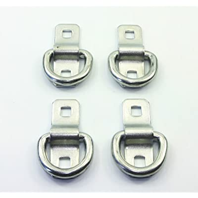 """(Pack of 4) Heavy Duty 3/8"""" 5,000lbs Anchor Point Surface Mount Tie Down D Ring"""
