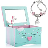 Amitié Lane Unicorn Jewellery Box For Girls PLUS Augmented Reality Experience (STEM Toy) - Unicorn Music Box With…