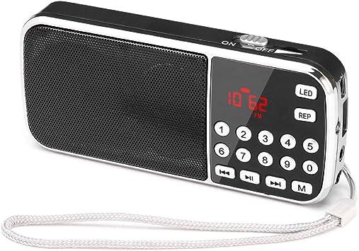 Radio FM portátil pequeña, Radio Digital portátil Mini Radio de Bolsillo Recargable con Tiempo de reproducción prolongado, Disco USB con Tarjeta TF Reproductor de MP3, por PRUNUS: Amazon.es: Electrónica
