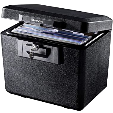 SentrySafe 1170 Fireproof Box with Key Lock 0.61 Cubic Feet