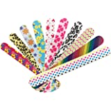 Nail File 10 PCS Professional Double Sided 100/180 Grit Nail Files Emery Board Colorful Manicure Pedicure Tool and Nail Buffering Files