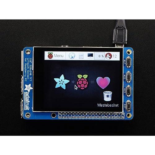 "Adafruit PiTFT Plus 320x240 2.8"" TFT + Capacitive Touchscreen [ADA2423]"