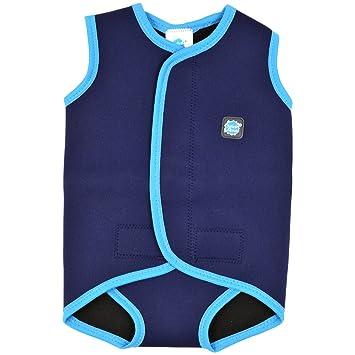 Amazon Com Splash About Baby Wrap Wetsuit Navy Turquoise Large 18