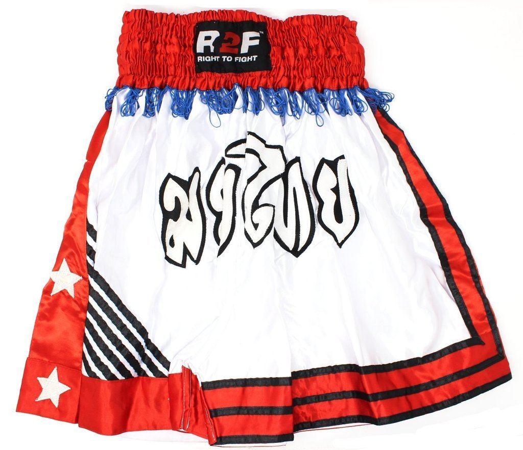 R2F Sports Boxe Les Troncs Sparring Entraînement MMA Muay Thai Bas Arts Martiaux Kickboxing Short