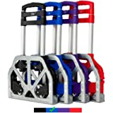 FCH Folding Hand Truck Aluminum Portable Folding Hand Cart 165lbs Capacity Hand Cart and Dolly Ideal for Home, Auto, Office,T