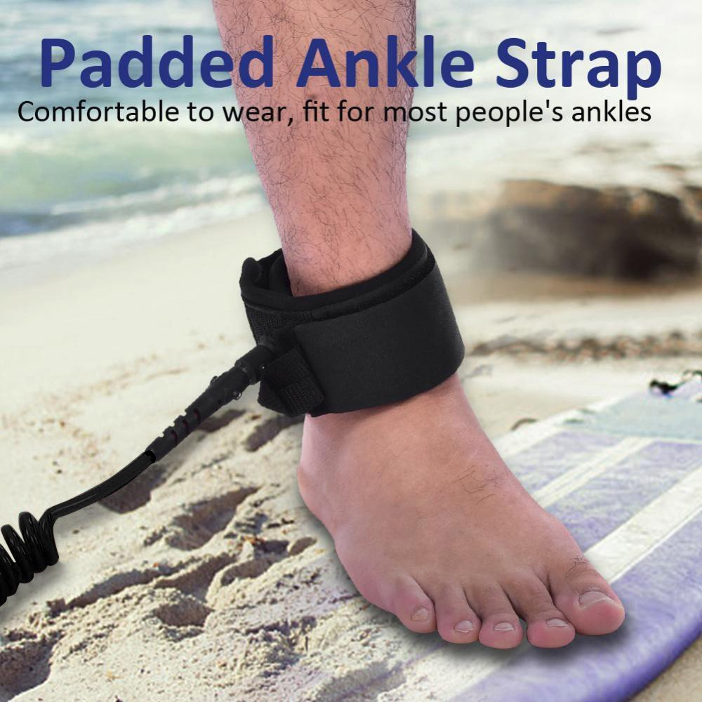 Hot Sale! Hongxin 10ft 7mm SUP Ankle Leash Surfboard Coiled Stand up Paddle Board TPU Paddle Board Rope Surfing Accessory Back to School Supplies Creative Gift