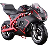 40cc 4-Stroke Pull Start Mini SUPERBIKE Motorized Gas Powered Mini Super Pocket Bike- Red