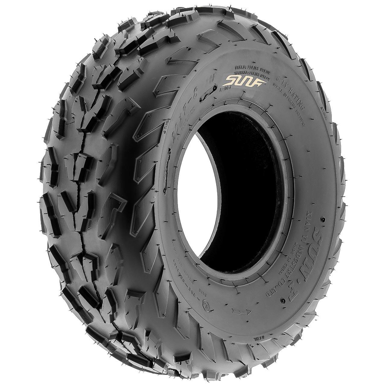 SunF A007 ATV UTV Sport Tire 20x7-8,6 PR, Directional Knobby Tread