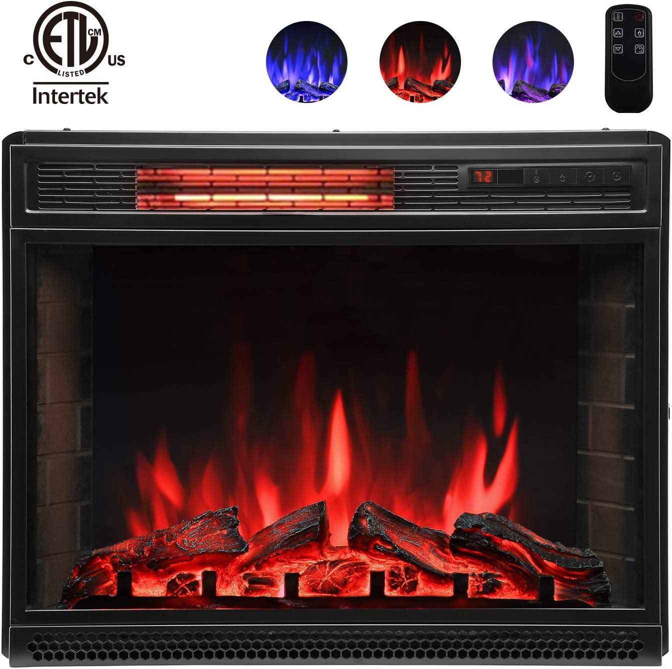 Amazon Com Lauraland 25 Inch Electric Fireplace Heater Recessed