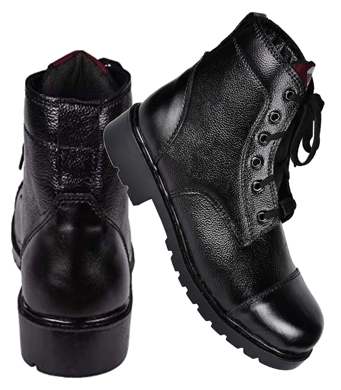 Buy para commando Men Black Leather