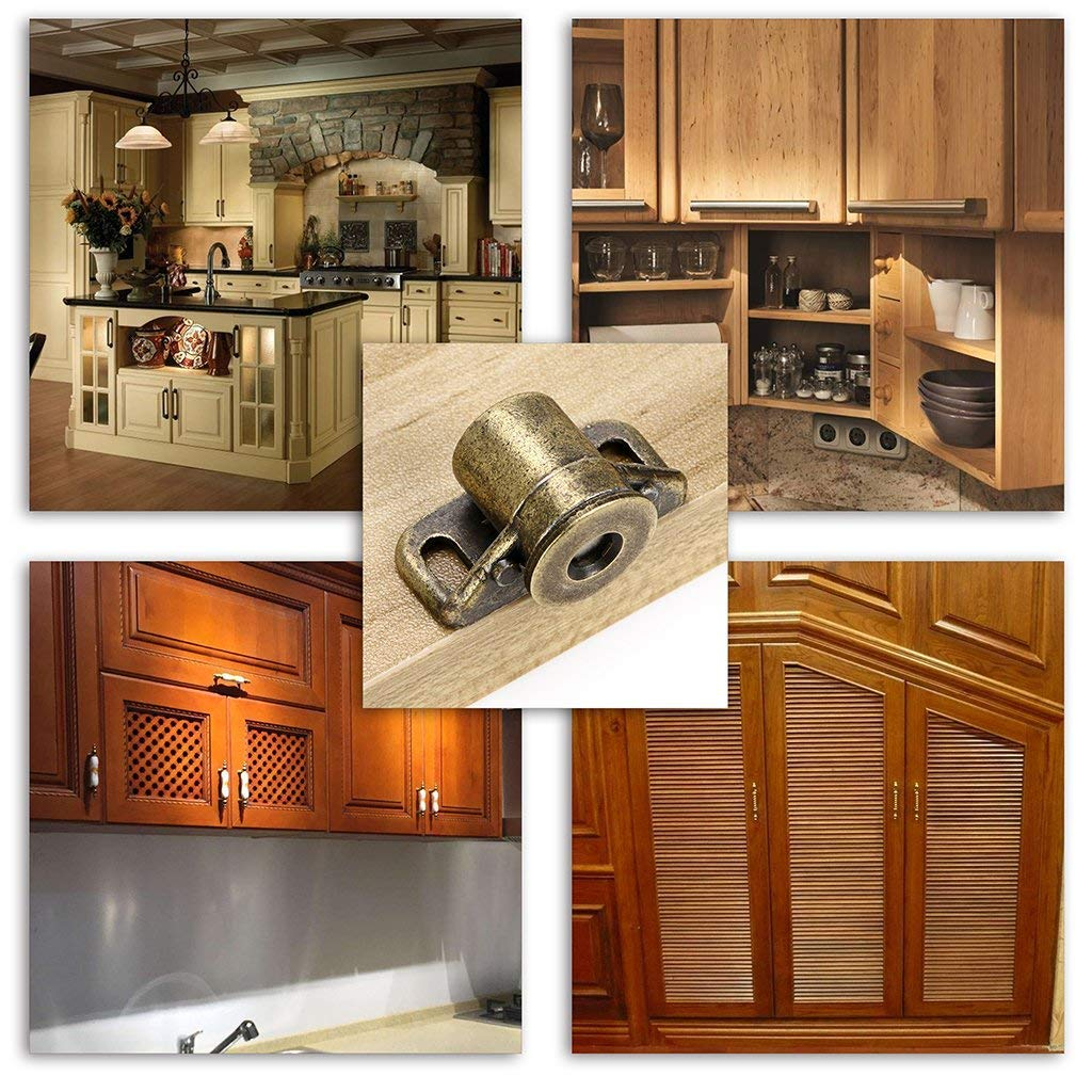 Bronze mciskin Cabinet /& Door Magnetic Latch Catch Cabinet Hardware Fittings Set of 4