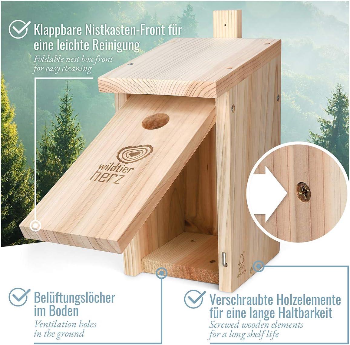 nichoir en Bois pour Les Enfants /à Peindre nichoir /à Oiseaux pour Suspension ext/érieure HERCHR Nichoirs /à Oiseaux pour lext/érieur