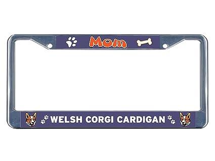 Corgi Mom License Plate Frame Tag Holder
