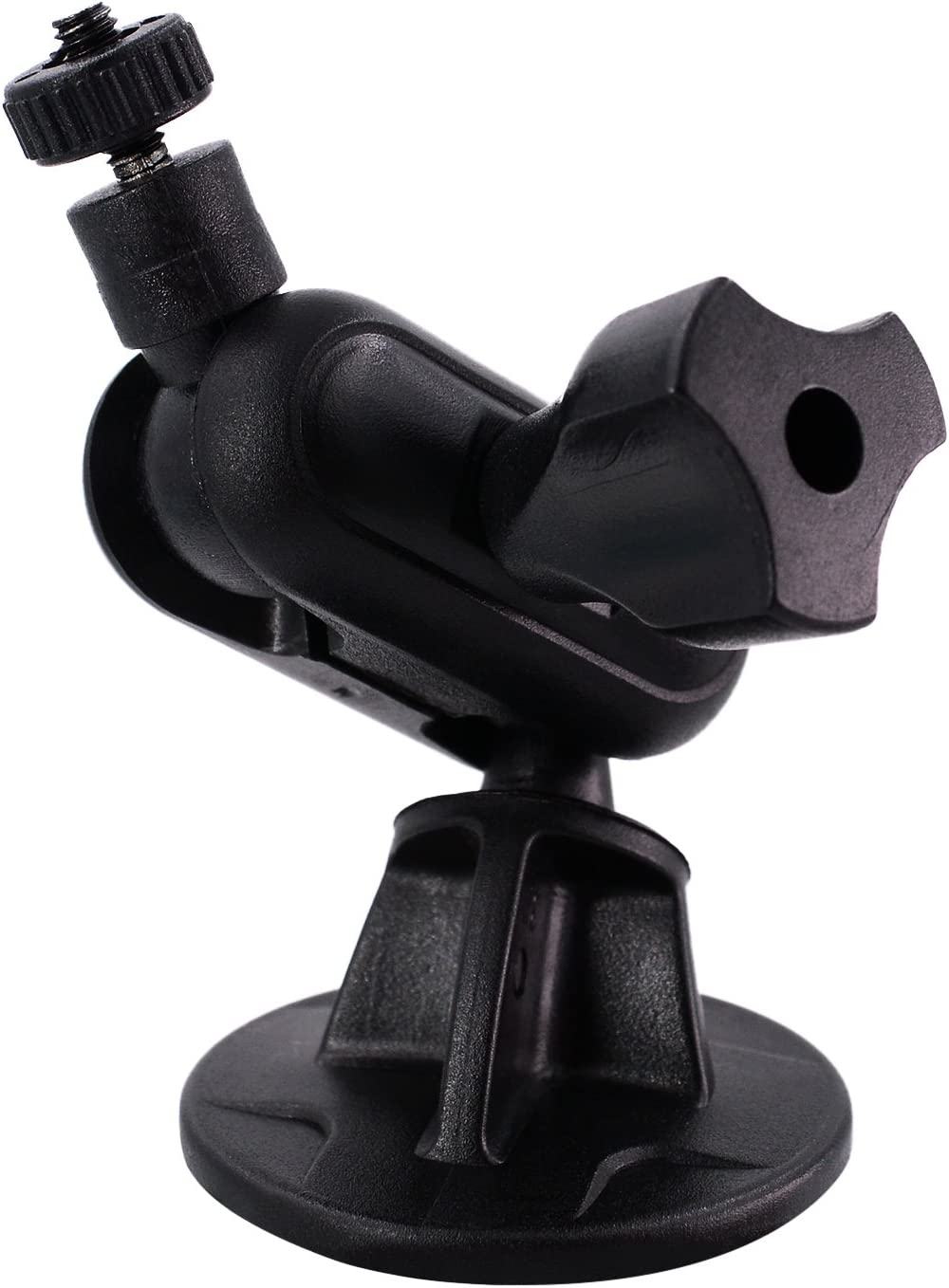 iSaddle CH03C 1//8 Mini Screw Thread Camera Adhesive Mount for 3M Double-Sided Base Tripod Permanent Holder M4 4mm On Dash Cam Mount Holder