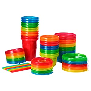 The First Years Take & Toss Party Pack, Rainbow, 30-Pieces