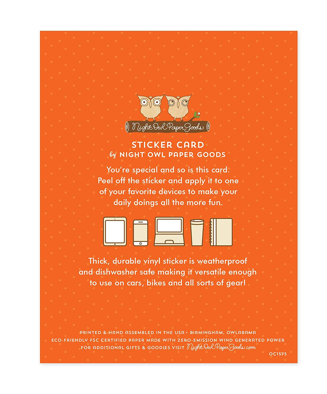 Night Owl Paper Goods Taco Break Sticker Birthday Card Multicolor