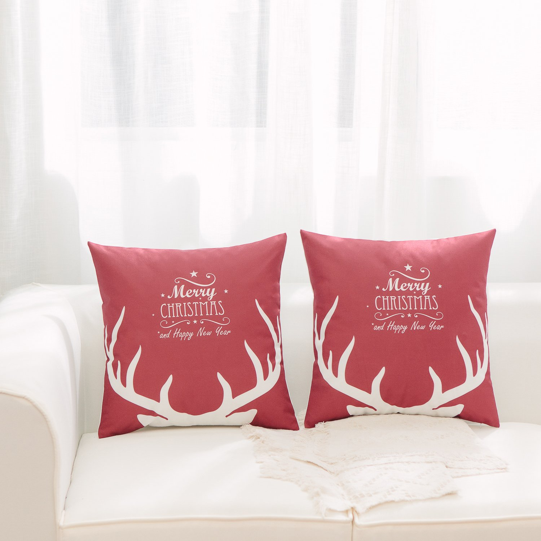 Amazon Merry Christmas Series Throw Pillow Sham Cushion Cover