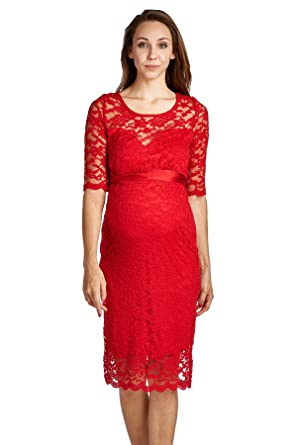 laclef womenu0027s floral lace baby shower knee length maternity dress small