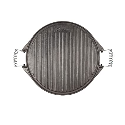 Algon AH53 Plancha de Cocina, 32 cm de diámetro, con Doble Cara, Hierro