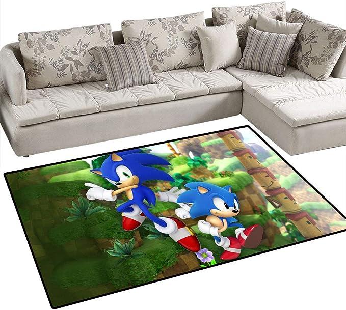 Coobal Sonic le h/érisson D/écoration de la maison Grand tapis Tapis de yoga Tapis de sol Tapis de salle de classe pour enfants Chambre /à coucher 90 x 150 cm