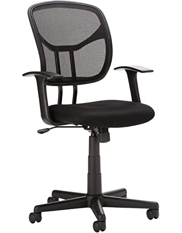 56ce85b12f0 AmazonBasics Classic Mid-Back Mesh Swivel Chair with Armrest - Black
