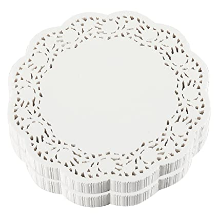 Paper Doilies U2013 500 Pack Bulk Round Lace Placemats For Cakes, Desserts,  Baked