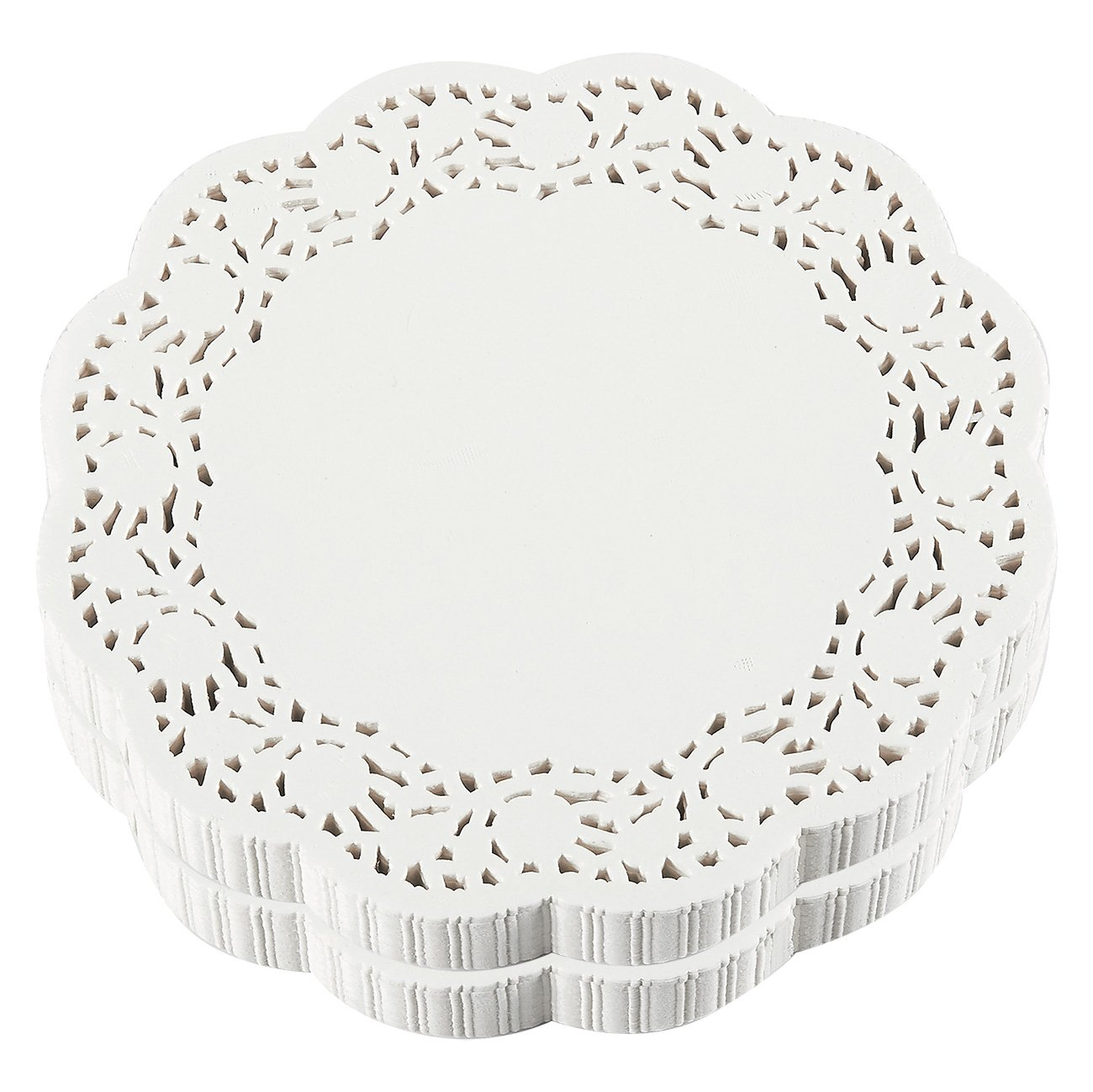 Paper Doilies – 500-Pack Bulk Round Lace Placemats for Cakes, Desserts, Baked Treat Display, Ideal for Weddings, Formal Event Decoration, Tableware Décor, White - 8 Inches in Diameter