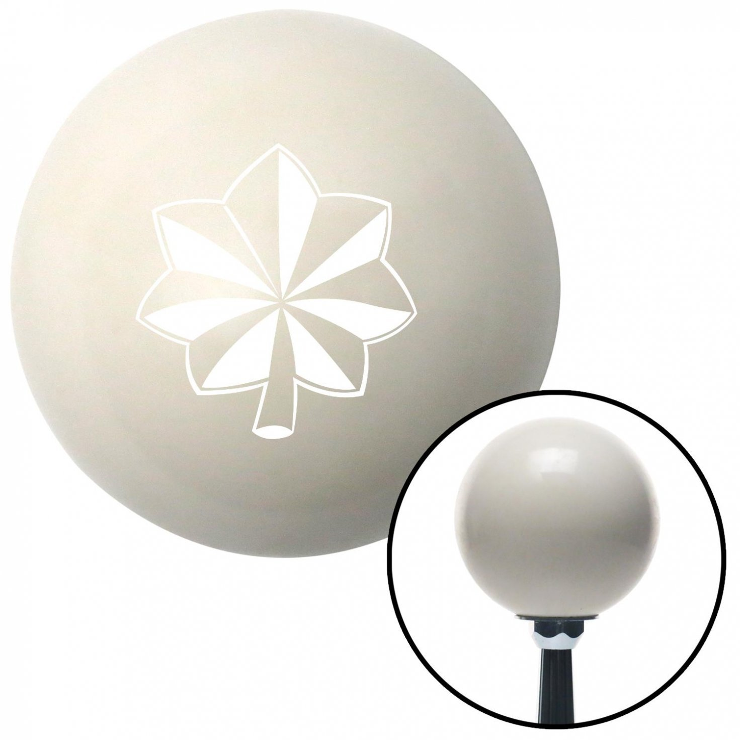 American Shifter 31967 Ivory Shift Knob with 16mm x 1.5 Insert White Officer 04 - Major and Lt. Colonel