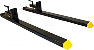 Titan Attachments Clamp on Pallet Forks Heavy Duty 60 in Total 43 in Fork Length