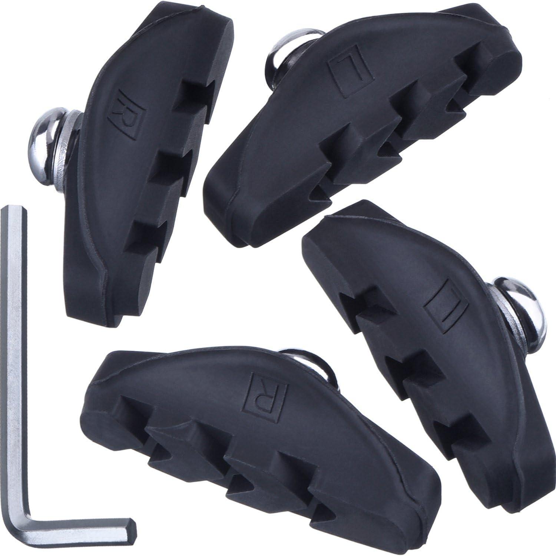 Fibrax Road Caliper Bike brake pads  blocks 53mm  washers /& nuts  ash106