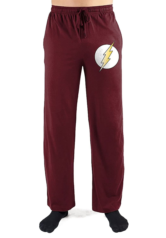 bioworld DC Comics Flash Burgundy Men's Lounge Pants