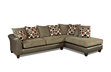 Chelsea Home Furniture Theta 2 Piece Sectional, Avanti Graphite/Surge  Graphite