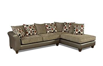 Amazon.com: Chelsea Home Furniture Theta 2-Piece Sectional ...