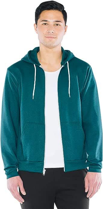 American Apparel Men's Flex Fleece Long Sleeve Zip Hoodie, Style F497w